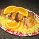 Garnish sliced pork loin, if desired.