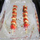 Chicken shish kebabs ready for grilling
