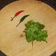 Chilli peppers and coriander leaf/cilantro