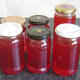 Cooled and sealed jars of rowan and apple jelly recipe