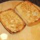 Garlic is rubbed on toasted ciabatta when making bruschetta