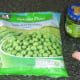 Frozen peas, mint sauce and garlic for pasta sauce