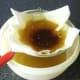 Straining vegetable oil