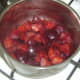 Stewed plums should be covered and left to cool