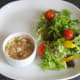 Jellied conger eel and green chilli with smoked paprika and salad