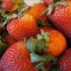 Fresh strawberries make a beautiful fruit salad creation.