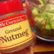 Nutmeg is a secret ingredient!  Form a roux by adding celery, salt, pepper, flour, herbs and spices.  Roux is a cooking term that means the base of a soup.