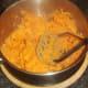 Mashing sweet potatoes