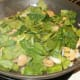 Add spinach to veggies