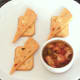 Fajitas spiced and bell pepper potted crayfish tails with Mexicana cheese and crackers