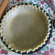 Fluted edges on pie crust