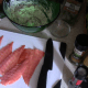 Separate your smoked salmon pieces.