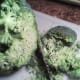 Shaving off broccoli florets