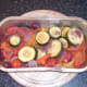 Roasted vegetables removed from oven