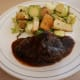 Sirloin with Fig and Red Wine Reduction