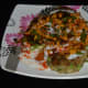 The potato tikki chaat is ready to serve!