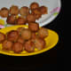 Coconut-jaggery balls (sukrunde) are ready to eat.