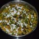Step 8: Spread the grated coconut and chopped coriander leaves on the top. Cut into desired shapes and sizes.