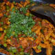 Step nine: Add chopped coriander leaves. Mix once. Baby corn dry masala curry is ready!