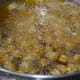 Step four: Fry chickpeas in batches till they are light and crunchy till inside. This may take about 8-9 minutes.