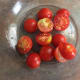 Cherry tomatoes sliced in half