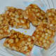 The peanut chikki is ready. Eat these crunchy, sweet bars whenever you desire. Store them in an airtight container for future use.