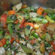 Sautéing vegetables