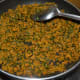 Step eight: Fenugreek zunka is ready. Turn off the stove. Don't cover the pan. Transfer the curry to a serving bowl.