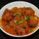 Raw banana kofta curry or raw plantain side dish.