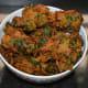 Methi pakoras (fenugreek leaf fritters)