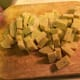 Cut Polenta in bite sized pieces