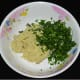 Collect the paste in a mixing bowl. Add chopped fenugreek leaves. Mix well.