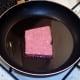 Starting to fry sausage
