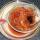 Straining curry sauce