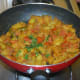 Knol-khol curry or spicy side dish.