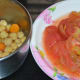 Step five: Cook chickpeas and carrots until they are soft. Follow the instructions for cooking.