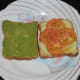 Step four: Keep a layer of thinly sliced cucumber on any of the bread slices. Next, another layer of thin slices of tomato.