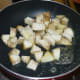 Step two: Saute sweet potato dices in 1/2 tsp butter or olive oil for two minutes.