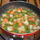 Add some water. Throw in some salt. Cover the pan and cook till the veggies are soft yet crunchy.