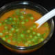 Your favorite green peas tomato soup is ready to serve! Enjoy sipping this yummy soup on a clod evening!