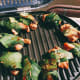 Brush the chicken with oil. Grill the chicken for 8-10 minutes per side.