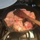 Frying it.