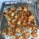 These are my completed buffalo roasted cauliflower fresh out of the oven.