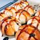 Enjoy the chocolate hot cross buns with coffee or tea.