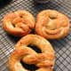 The finished pretzels fresh out from the oven.