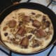Curried chicken sausage Spanish tortilla is ready to serve