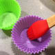 Brush the baking molds with some oil.