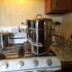 The steam juicer set up and ready to go.