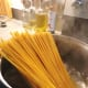 Cook the pasta in the boiling water, stirring occasionally until cooked.