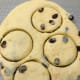 Roll the dough about 1 inch thick and use a round cutter.